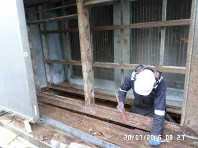 during repair work on AHU